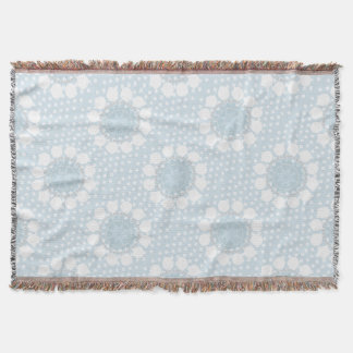 Pale Blue Polka Dot/Circles Throw