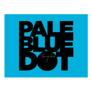 Pale Blue Postcard