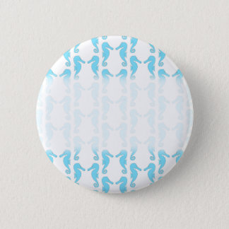 Pale Blue Seahorse Pattern 2 Inch Round Button