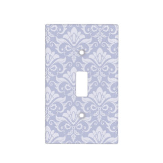 Pale Blue Shabby Chic Damask Light Switch Cover