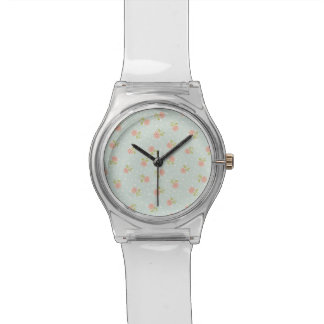 pale blue shabby chic polka dot white pink floral watches