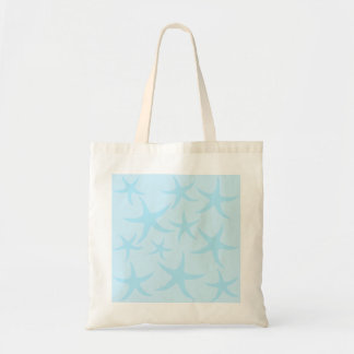 Pale Blue Starfish Pattern. Budget Tote Bag