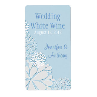 Pale Blue Stylish Chrysanthemum Wedding Mini Wine
