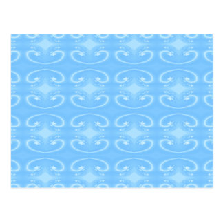 Pale Blue Swirl Pattern. Postcard