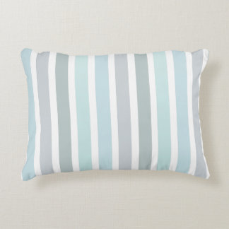 Pale Blue Turquoise Stripes Pattern Accent Pillow