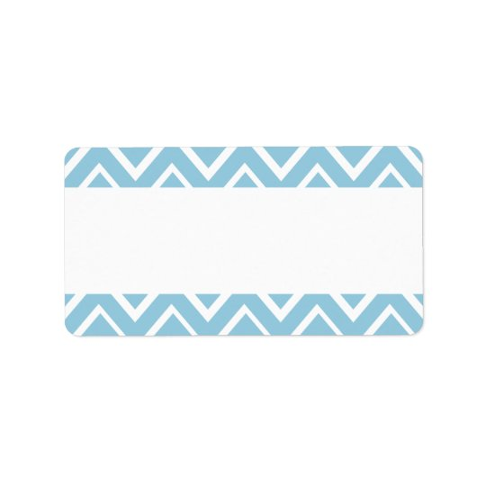 Pale blue whimsical zigzag chevron pattern