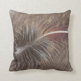 Pale Brown Feather Still Life Throw Pillow