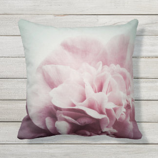 Pale camellia flower with copy space throw pillow