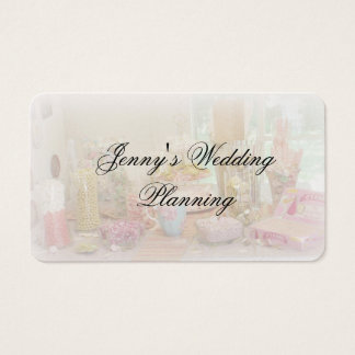 Pale Candy Display Photo Business Card