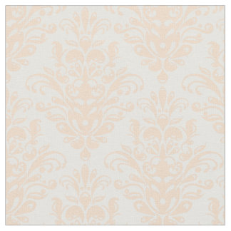 Pale coral Pink and white Elegant Damask Pattern Fabric