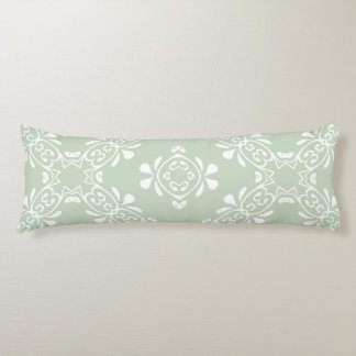 Pale Country Green Scroll Custom Body Pillow
