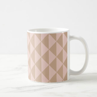 Pale Dogwood Pink and Hazelnut Brown Geometric Coffee Mug