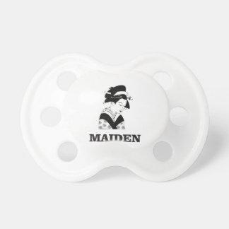 pale fair maiden baby pacifier