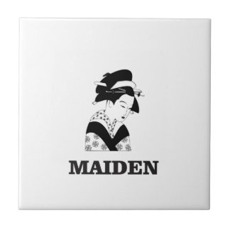 pale fair maiden ceramic tile