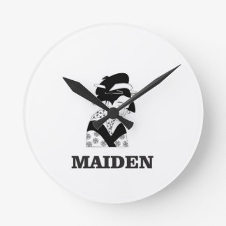 pale fair maiden wall clocks