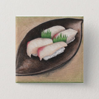 Pale Fish, Brown Plate button