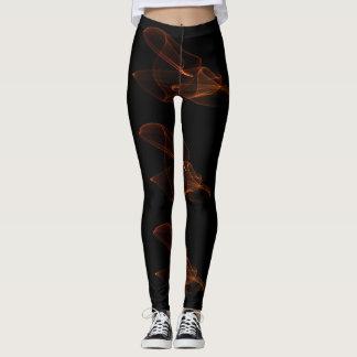 pale flame bursts barely visible on a black backg leggings
