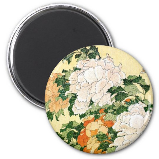 Pale Flowers 2 Inch Round Magnet