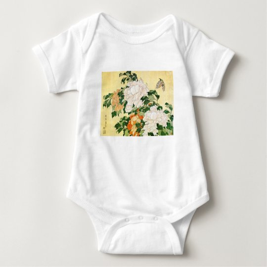 Pale Flowers Baby Bodysuit