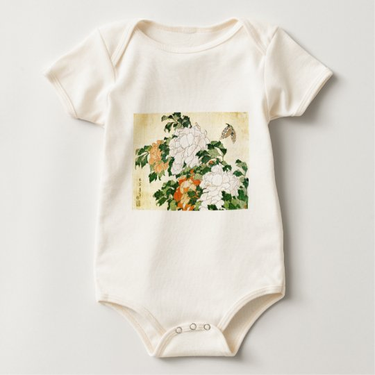 Pale Flowers Baby Bodysuit