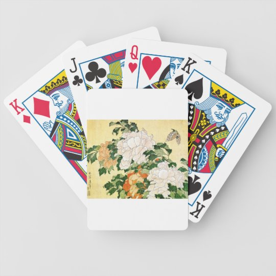 Pale Flowers Bicycle Playing Cards