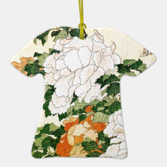 Pale Flowers Ceramic T-Shirt Ornament