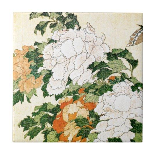 Pale Flowers Ceramic Tiles