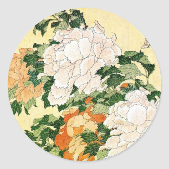 Pale Flowers Classic Round Sticker