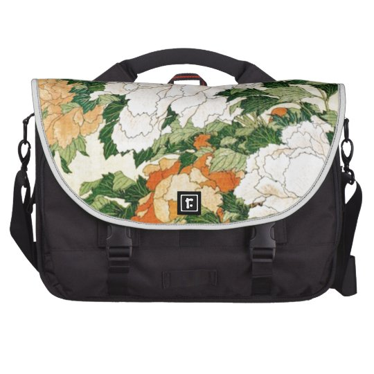 Pale Flowers Laptop Commuter Bag