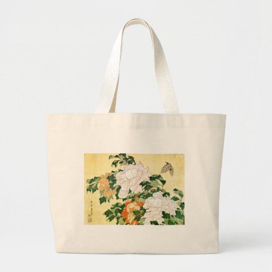 Pale Flowers Large Tote Bag