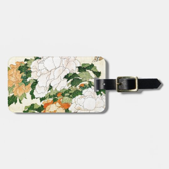 Pale Flowers Luggage Tag