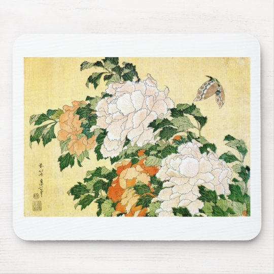Pale Flowers Mouse Pad