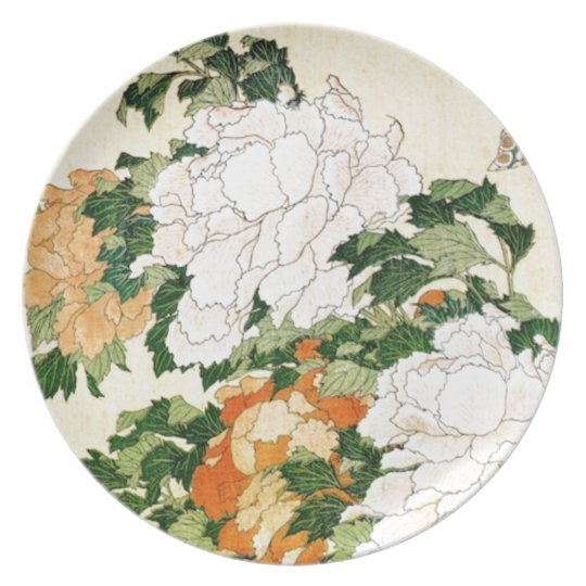 Pale Flowers Party Plate