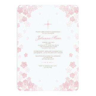 Pale Flowers Religious Invitation