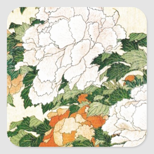 Pale Flowers Square Sticker