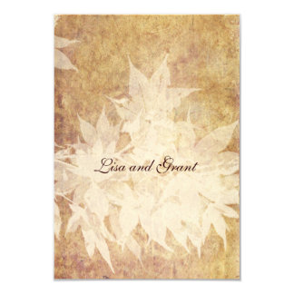 Pale Ghost Leaves rsvps with envelopes Card
