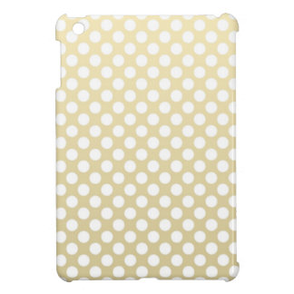 Pale Gold and White Polka Dots iPad Mini Cases