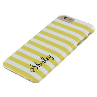 Pale Gold and White Stripes by Shirley Taylor Barely There iPhone 6 Plus Case