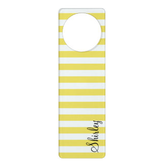 Pale Gold and White Stripes by Shirley Taylor Door Hanger