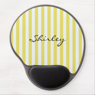 Pale Gold and White Stripes by Shirley Taylor Gel Mouse Pad