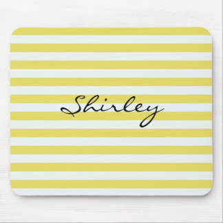 Pale Gold and White Stripes by Shirley Taylor Mouse Pad