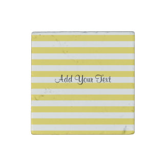 Pale Gold and White Stripes by Shirley Taylor Stone Magnets