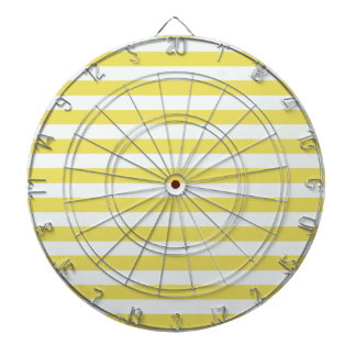 Pale Gold And White Stripes Dartboard