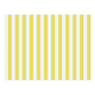 Pale Gold And White Stripes Post Cards