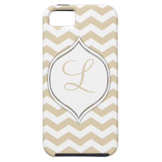 Pale Gold Chevron With Your Choice Of 2nd Color iPhone 5 Covers