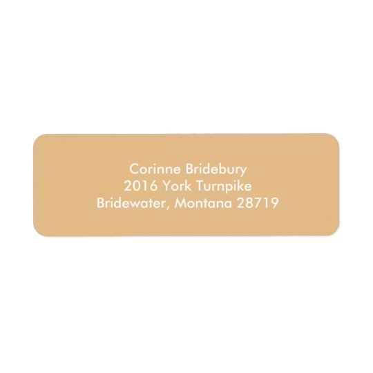 Pale Gold Gift Matching Colour Return Address Label