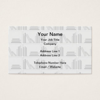 Pale Gray Books on Shelf. Business Card