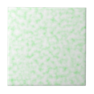 Pale Green and White Abstract Clouds Pattern Tiles
