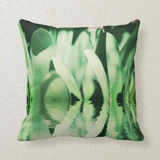Pale Green Clivia Bush Lily Leaves Cushion Pillow
