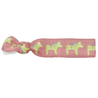 Pale Green Dala Horse Hair Tie